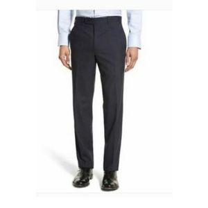 JB Britches Torino Flat Front Wool Dress Pants